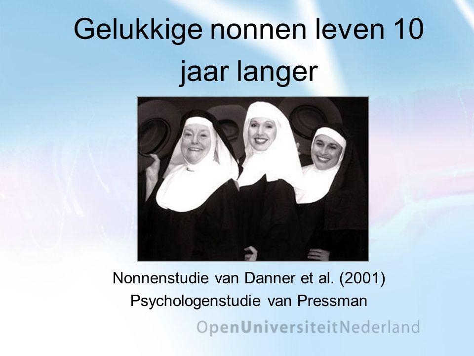 Gelukkige nonnen leven 10 jaar langer