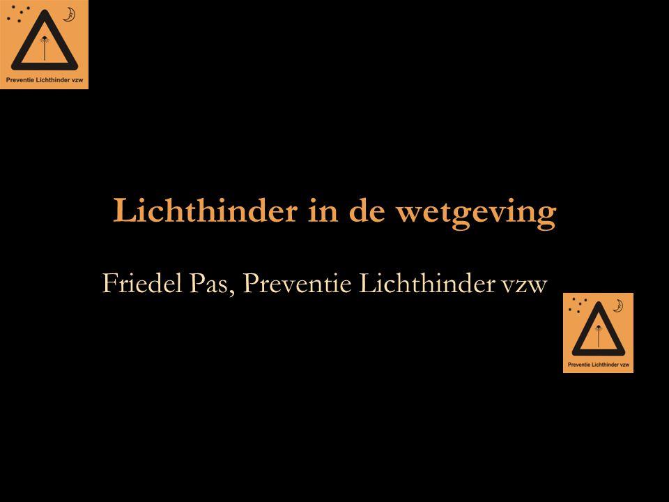 Lichthinder in de wetgeving