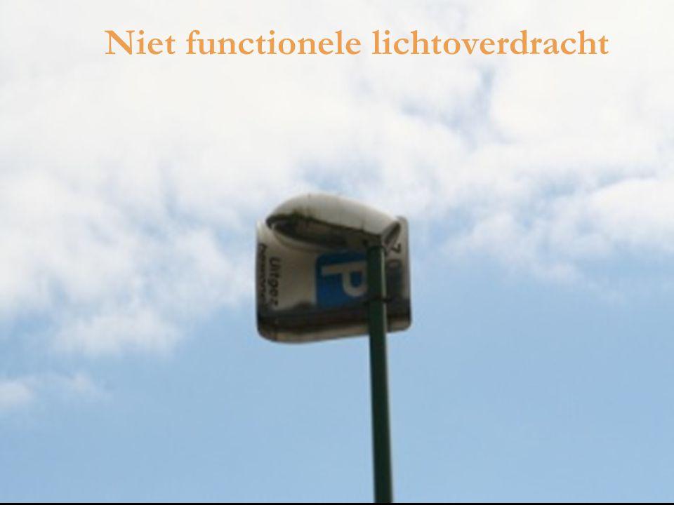 Niet functionele lichtoverdracht