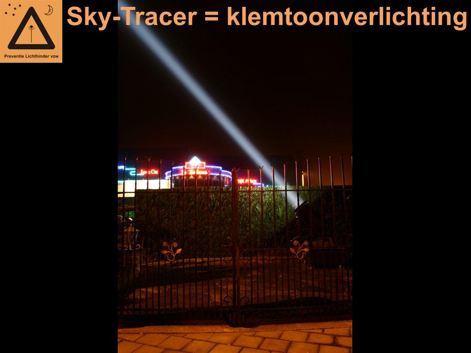 Sky-Tracer = klemtoonverlichting