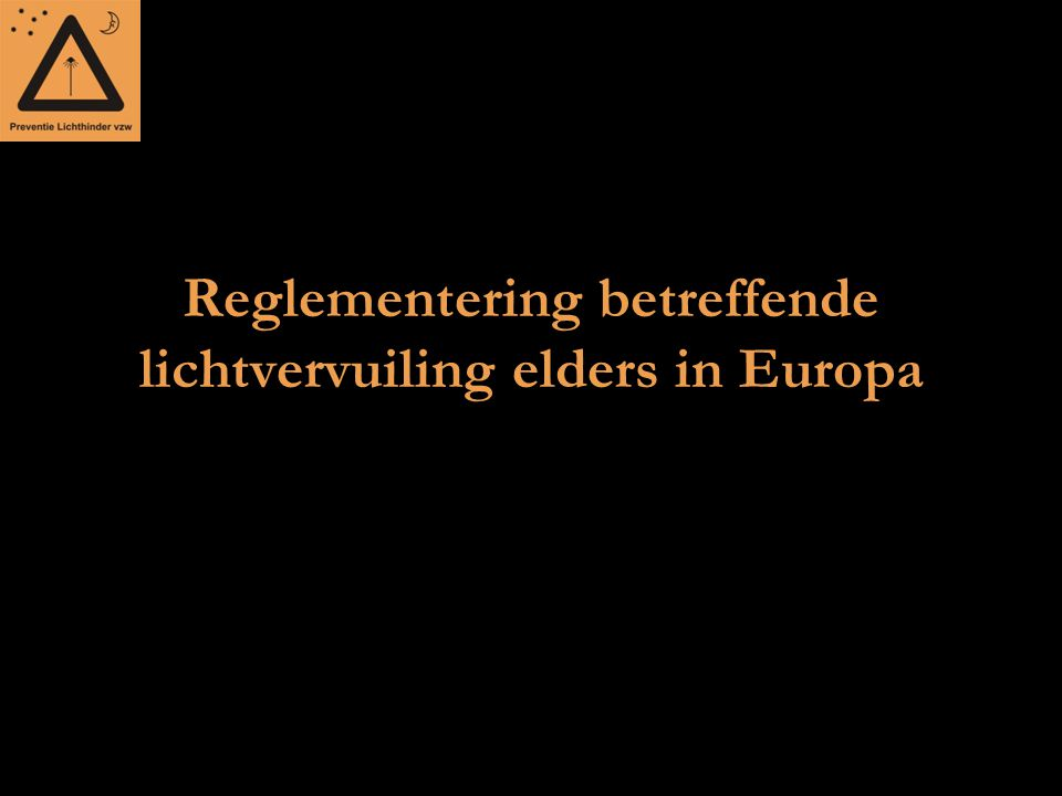 Reglementering betreffende lichtvervuiling elders in Europa