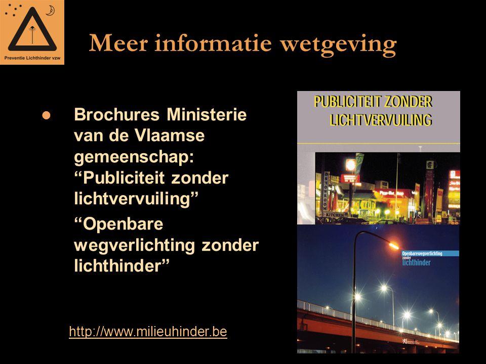 Meer informatie wetgeving