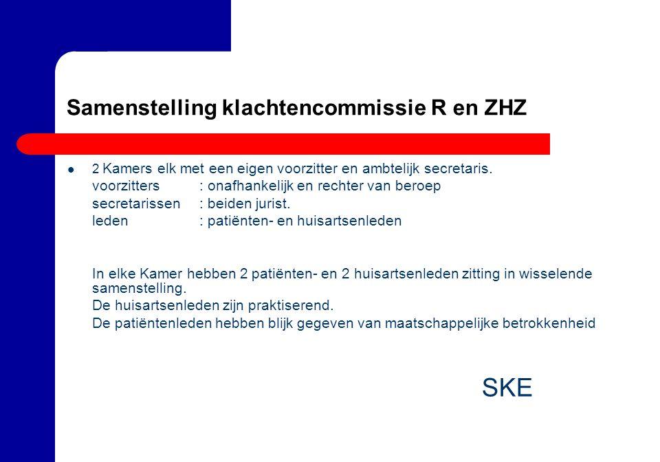 Samenstelling klachtencommissie R en ZHZ
