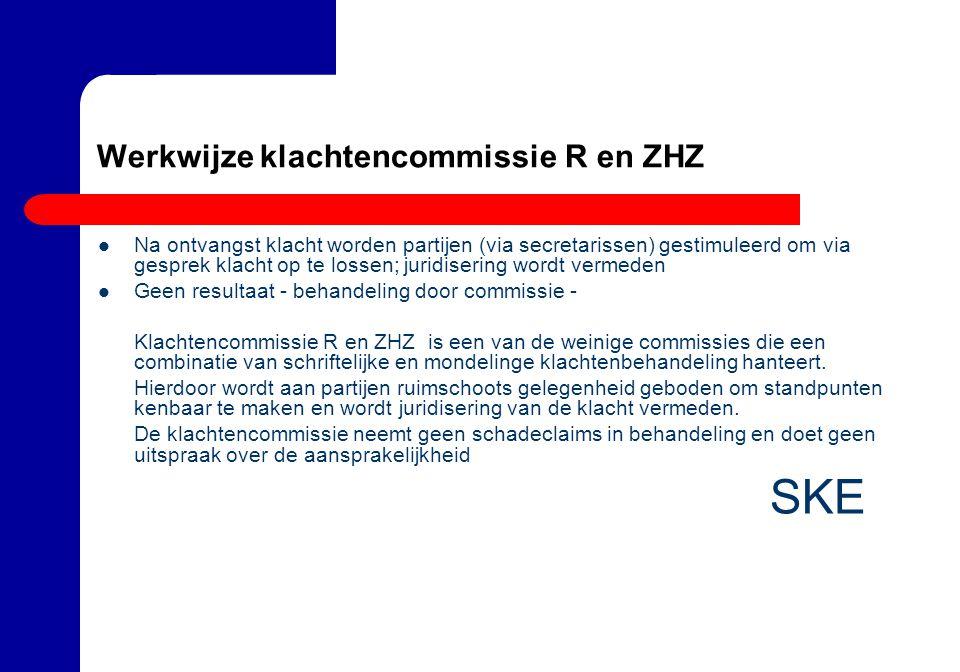 Werkwijze klachtencommissie R en ZHZ