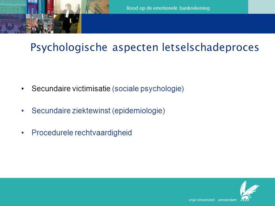 Psychologische aspecten letselschadeproces