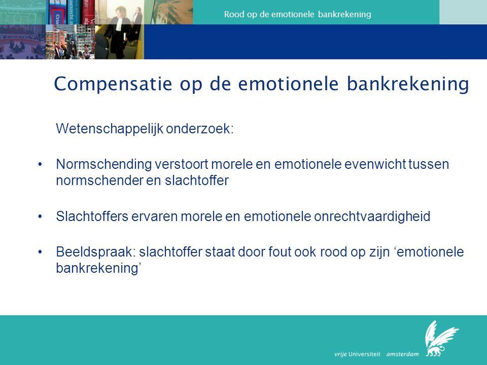 Compensatie op de emotionele bankrekening