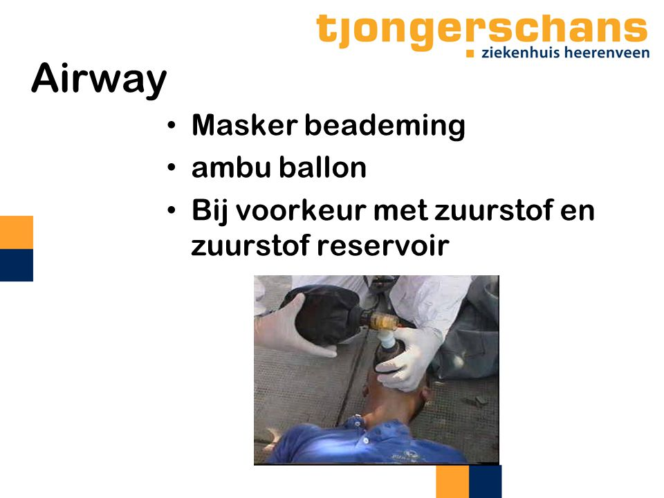 Airway Masker beademing ambu ballon