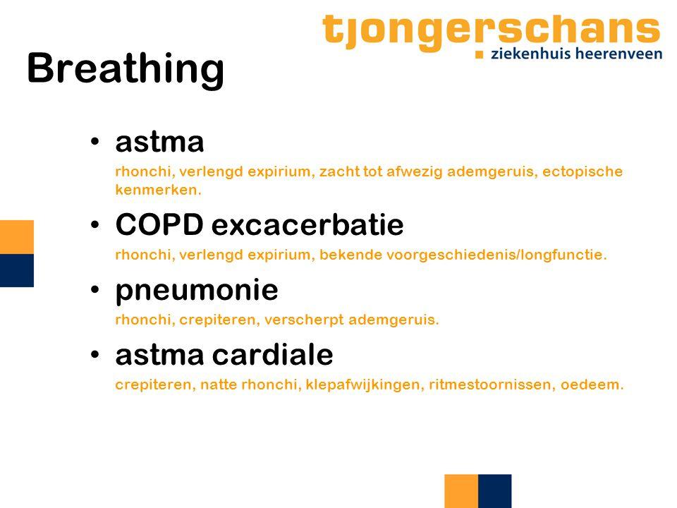 Breathing astma COPD excacerbatie pneumonie astma cardiale