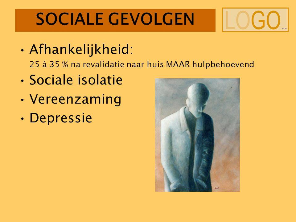 SOCIALE GEVOLGEN Afhankelijkheid: Sociale isolatie Vereenzaming