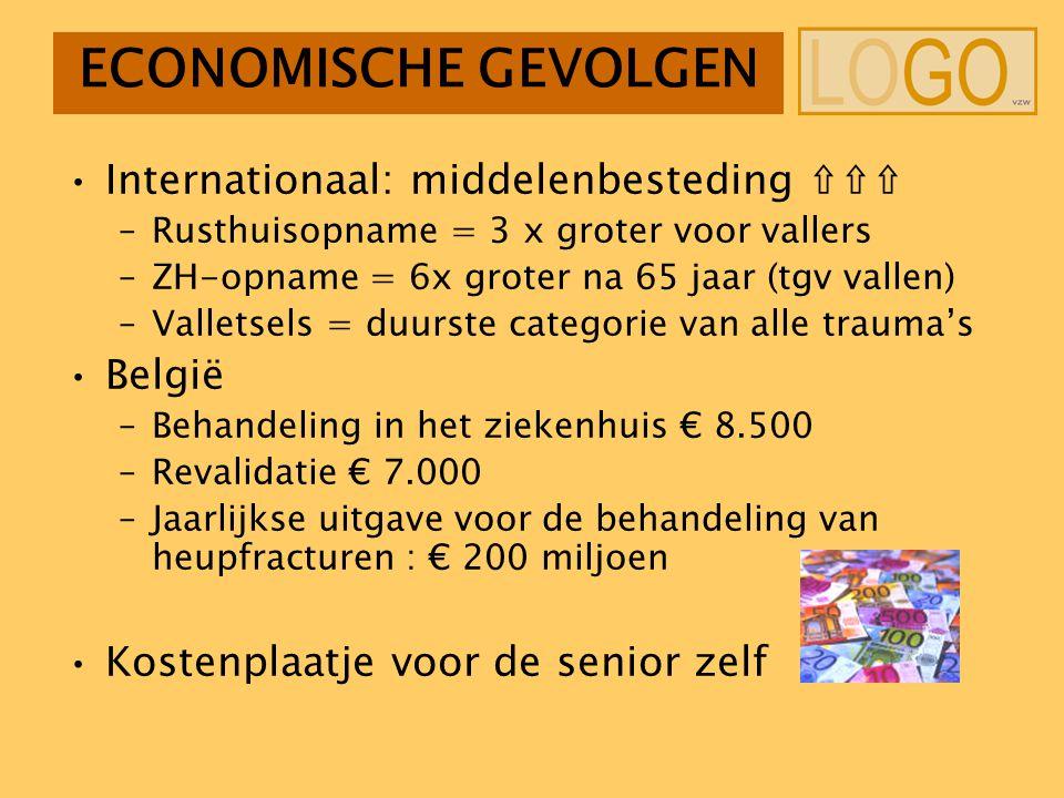 ECONOMISCHE GEVOLGEN Internationaal: middelenbesteding ⇧⇧⇧ België