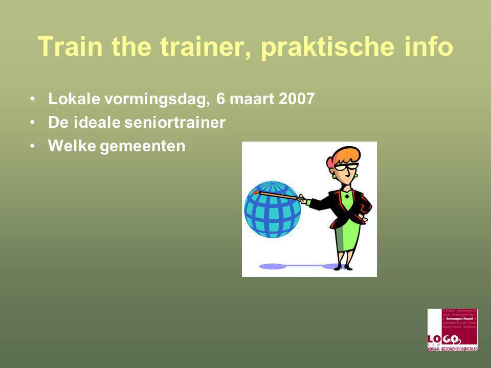 Train the trainer, praktische info