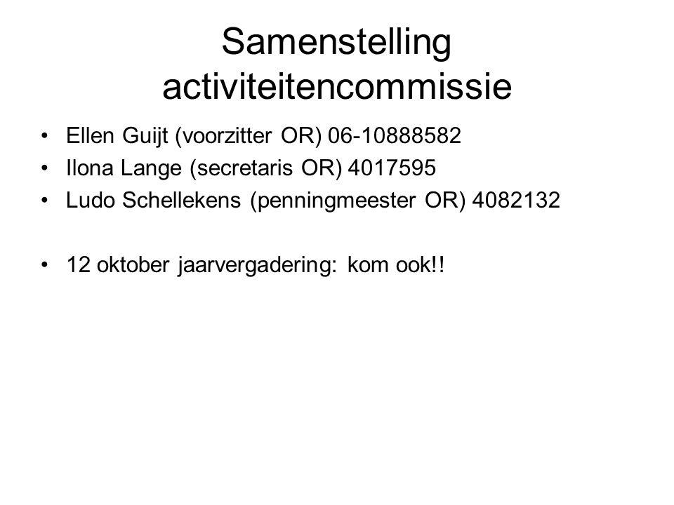 Samenstelling activiteitencommissie