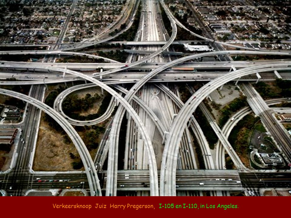 Verkeersknoop Juiz Harry Pregerson, I-105 en I-110, in Los Angeles.