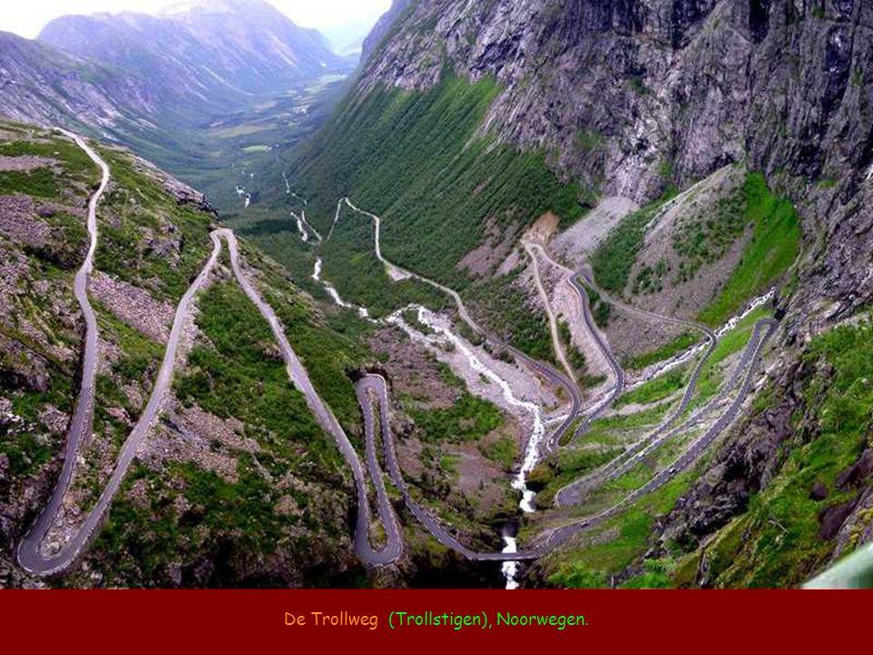 De Trollweg (Trollstigen), Noorwegen.