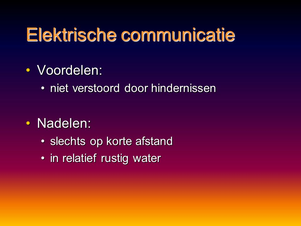 Elektrische communicatie