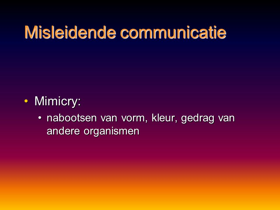 Misleidende communicatie