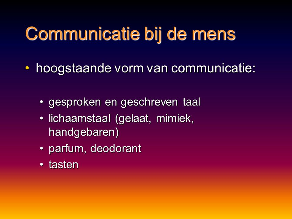 Communicatie bij de mens