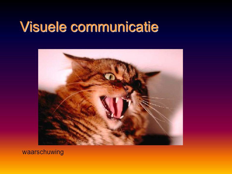Visuele communicatie waarschuwing