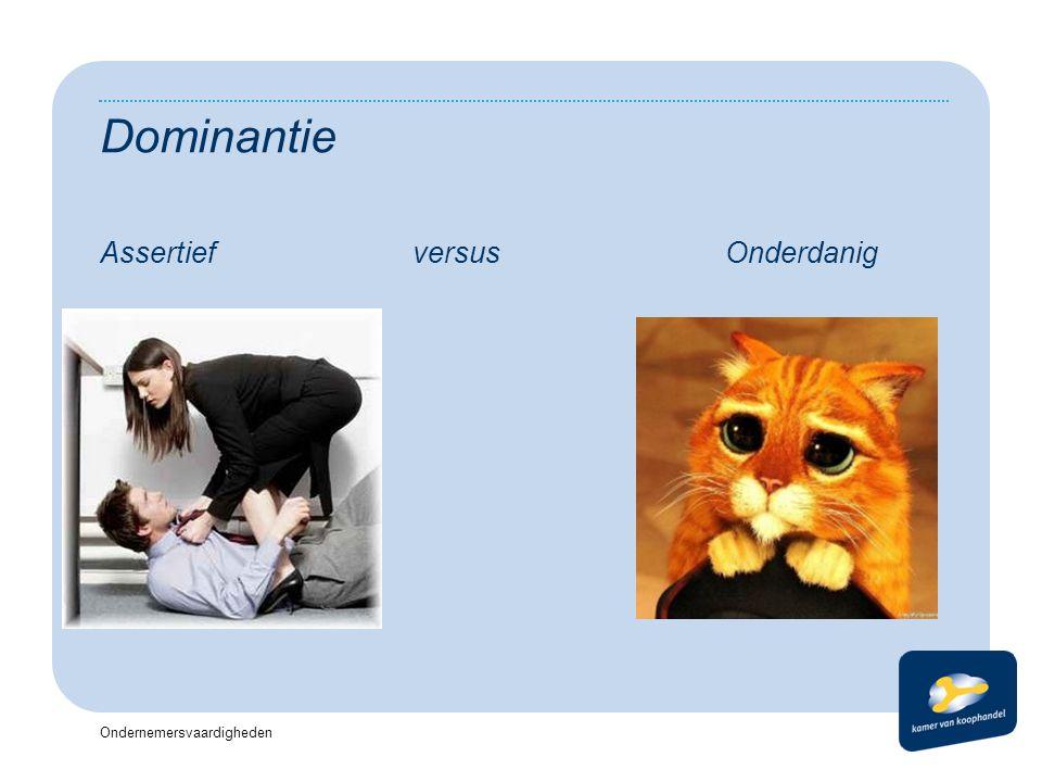 Dominantie Assertief versus Onderdanig Koptekst Datum Voettekst