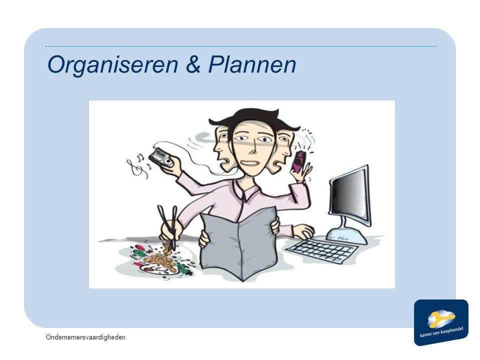 Koptekst Datum Organiseren & Plannen Ondernemersvaardigheden Voettekst