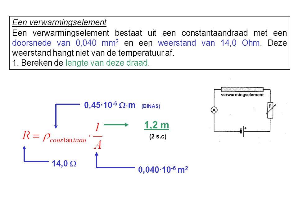 1,2 m Een verwarmingselement