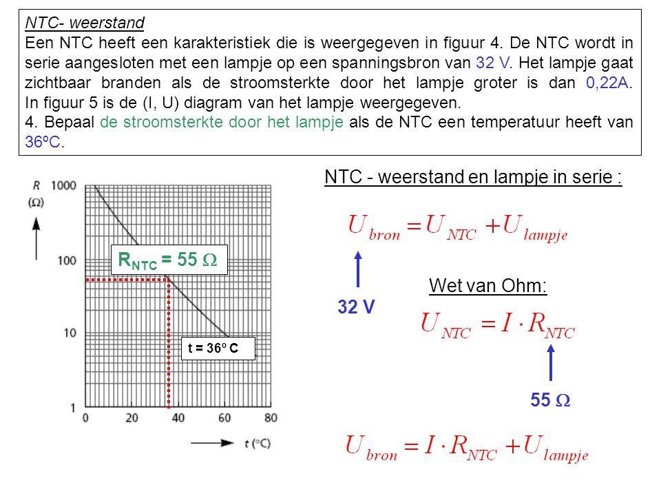 NTC - weerstand en lampje in serie :