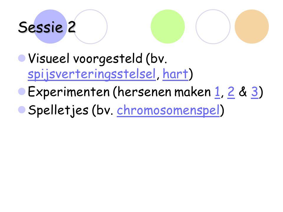 Sessie 2 Visueel voorgesteld (bv. spijsverteringsstelsel, hart)