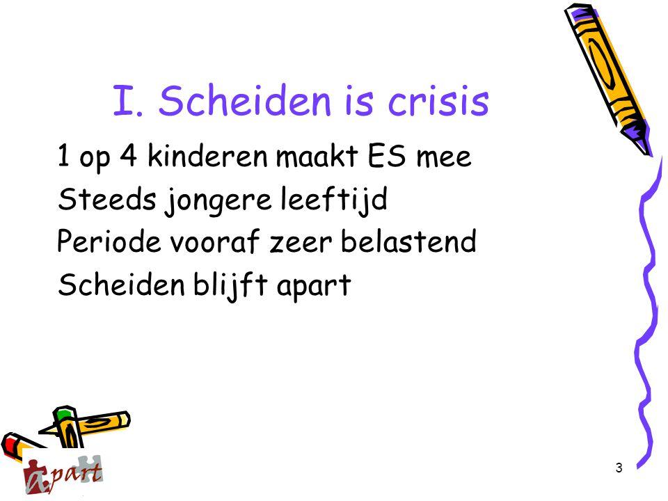 I. Scheiden is crisis 1 op 4 kinderen maakt ES mee