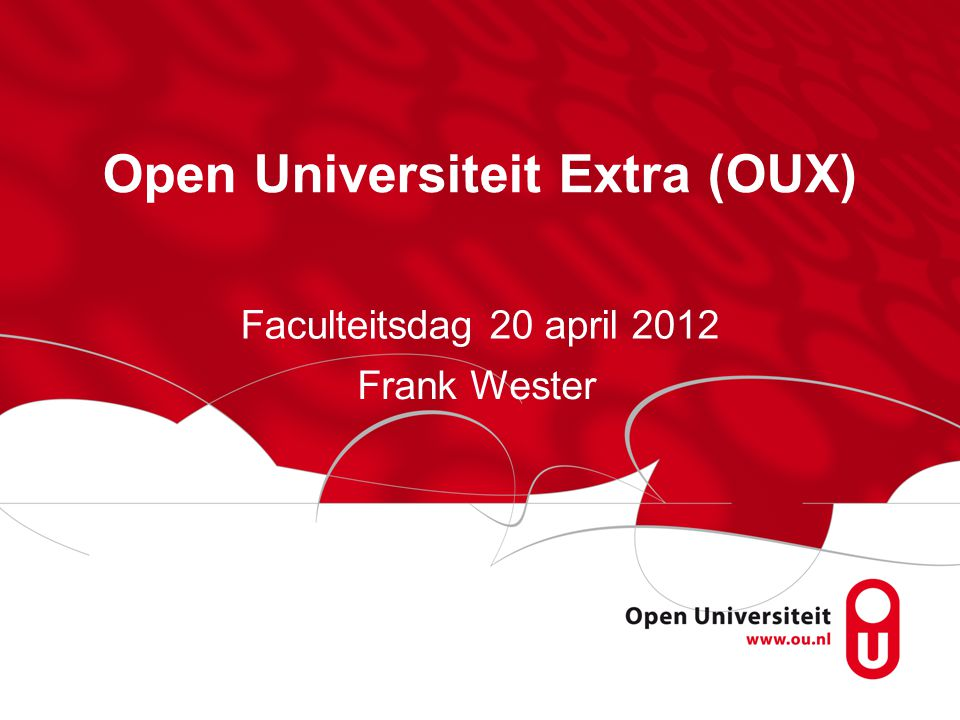 Open Universiteit Extra (OUX)