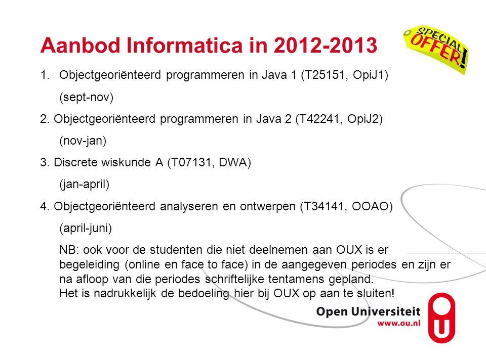 Aanbod Informatica in 2012-2013
