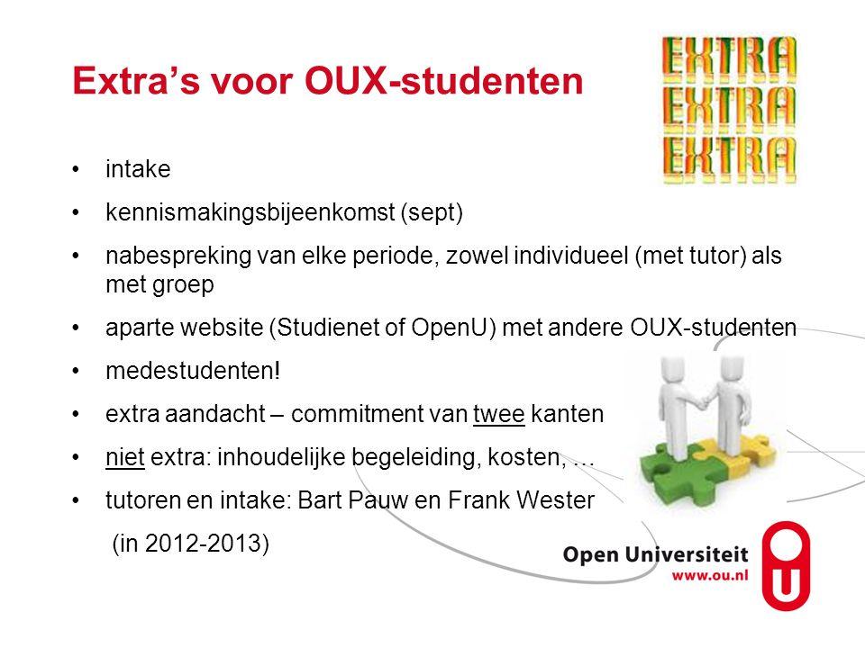 Extra's voor OUX-studenten