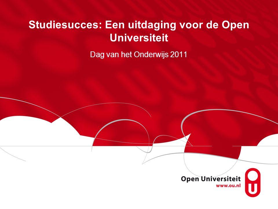 Studiesucces: Een uitdaging voor de Open Universiteit