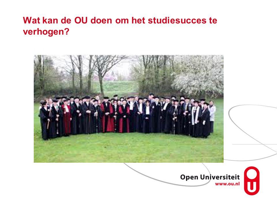 Wat kan de OU doen om het studiesucces te verhogen