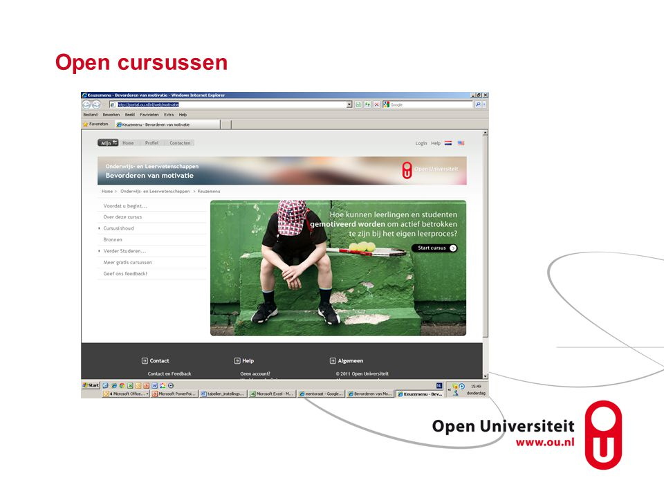 Open cursussen