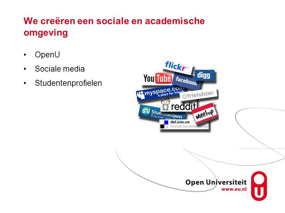 We creëren een sociale en academische omgeving