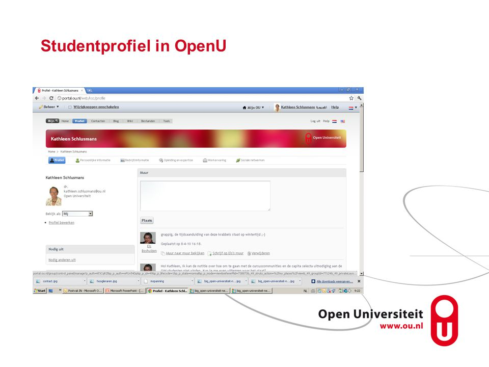 Studentprofiel in OpenU