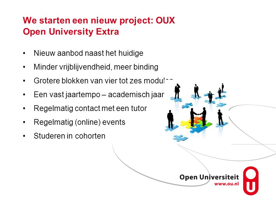 We starten een nieuw project: OUX Open University Extra