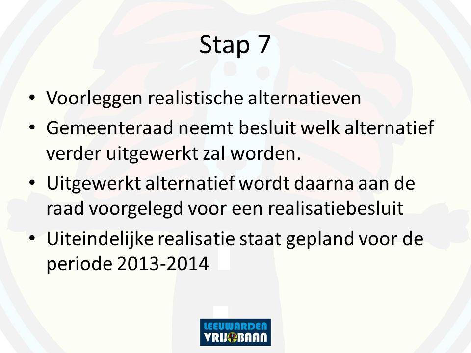 Stap 7 Voorleggen realistische alternatieven