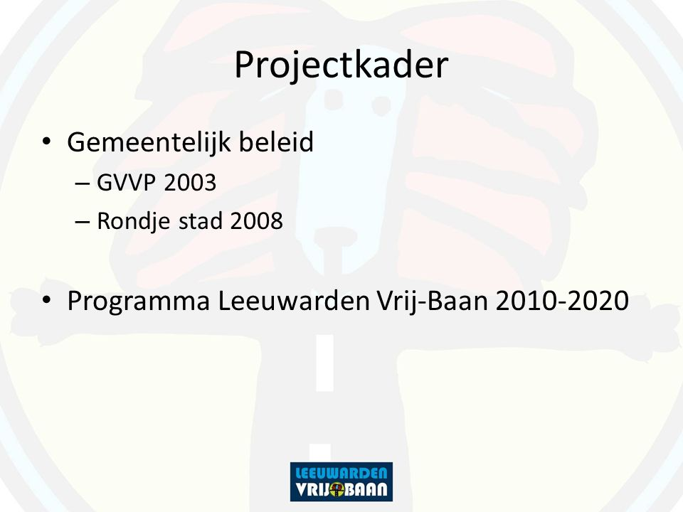 Projectkader Gemeentelijk beleid