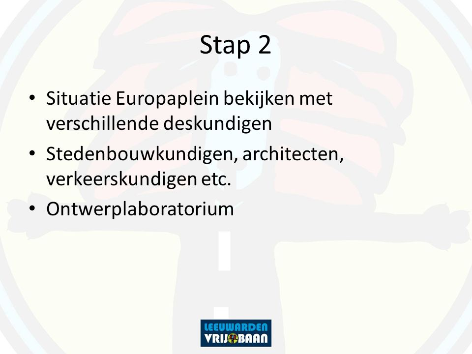 Stap 2 Situatie Europaplein bekijken met verschillende deskundigen