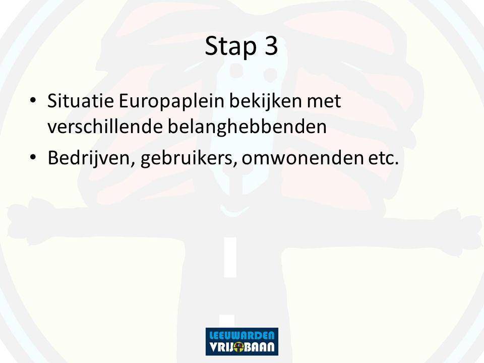 Stap 3 Situatie Europaplein bekijken met verschillende belanghebbenden