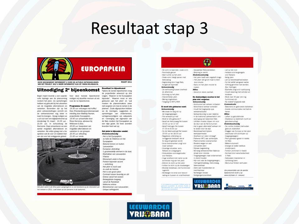 Resultaat stap 3