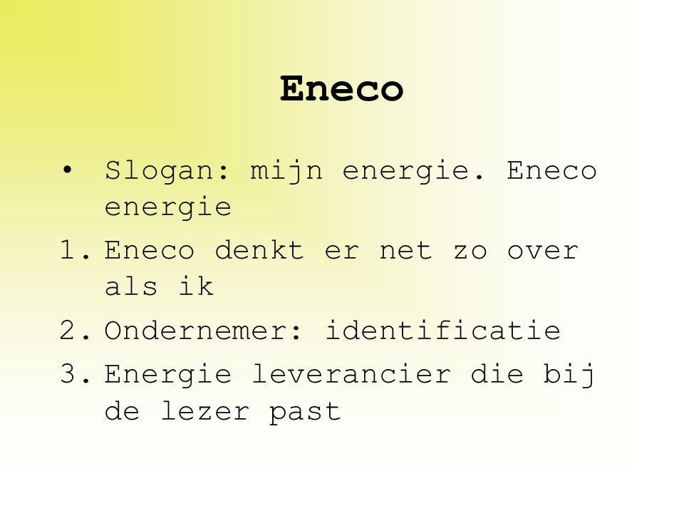 Eneco Slogan: mijn energie. Eneco energie