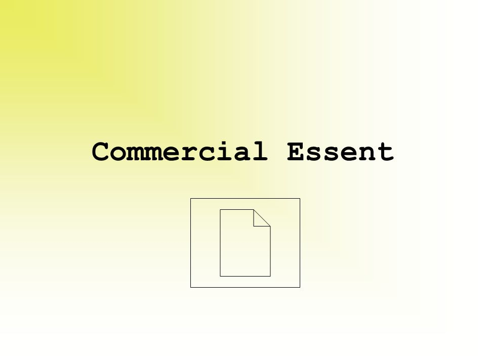 Commercial Essent