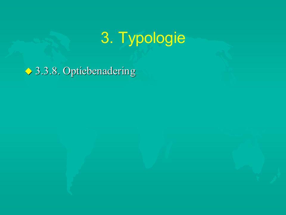 3. Typologie 3.3.8. Optiebenadering