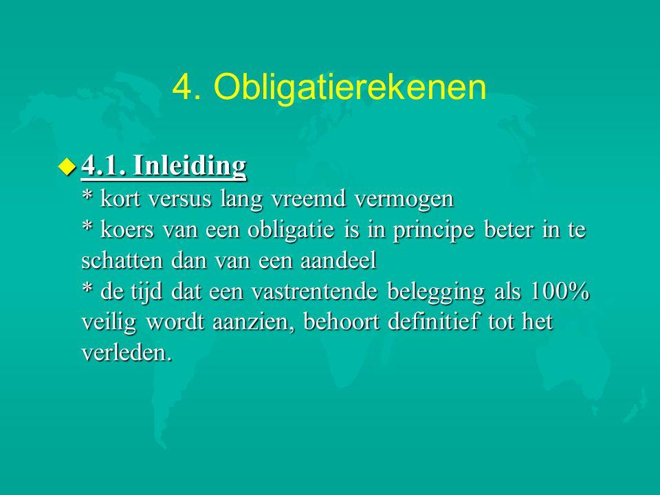4. Obligatierekenen