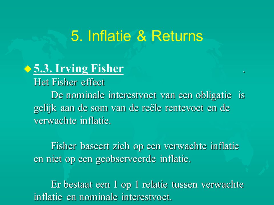 5. Inflatie & Returns