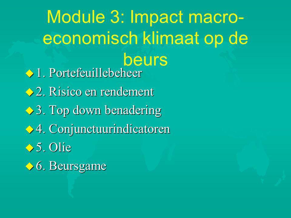 Module 3: Impact macro-economisch klimaat op de beurs