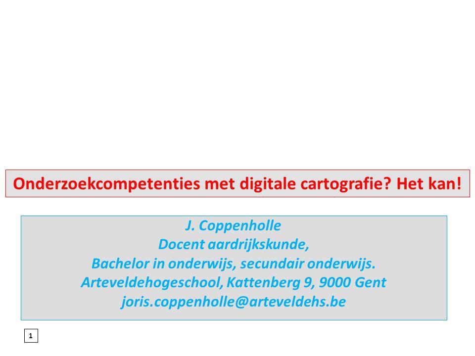 Onderzoekcompetenties met digitale cartografie Het kan!