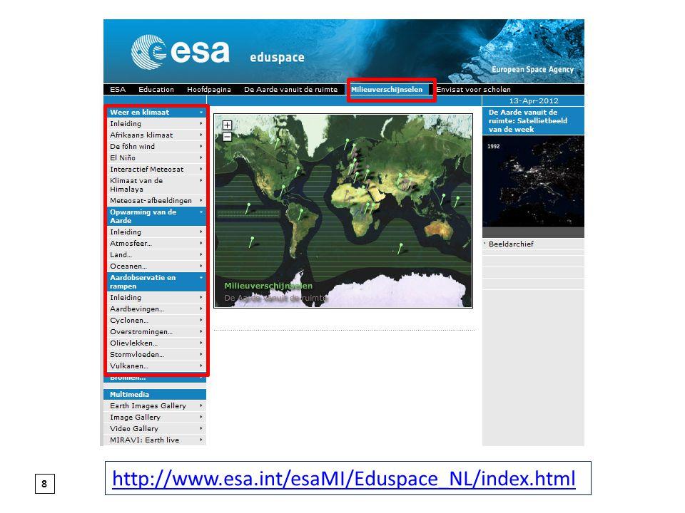 http://www.esa.int/esaMI/Eduspace_NL/index.html